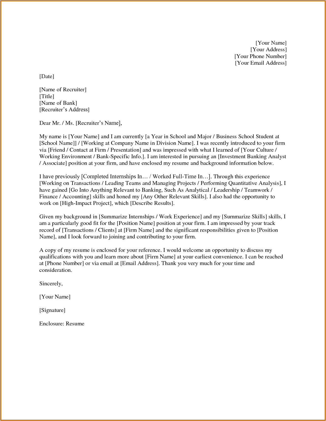6 investment banking sample cover letter