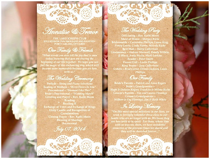 Wedding Blessing order Of Service Template 7 Wedding Blessing order Of Service Template Taaww