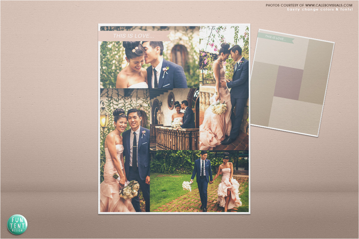 12328 wedding blog board collage template