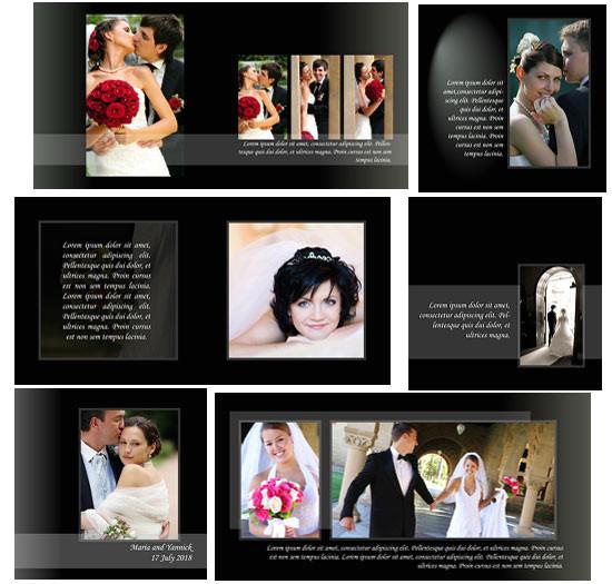 classic style wedding album p 315
