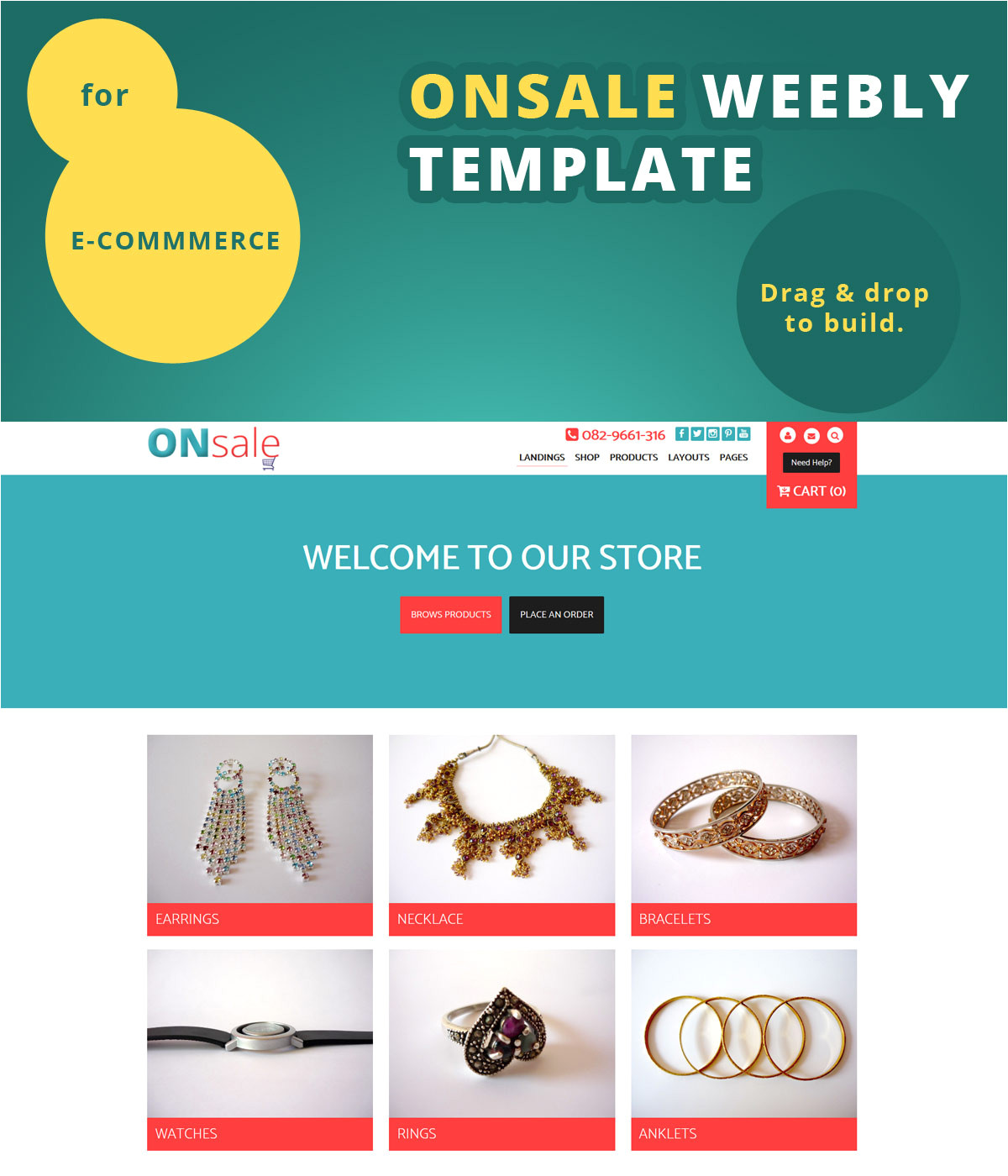 introducing onsale ecommerce weebly template