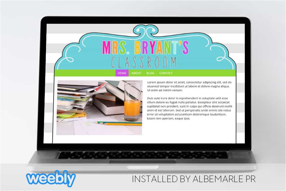 mrs bryant template for weebly