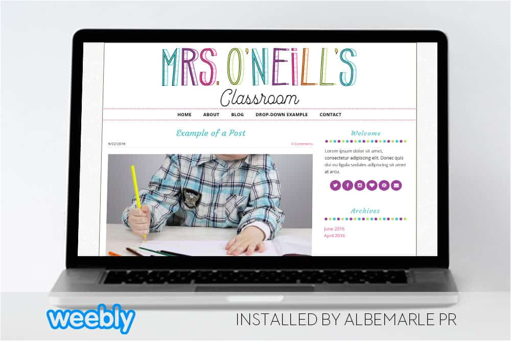 mrs oneill template for weebly