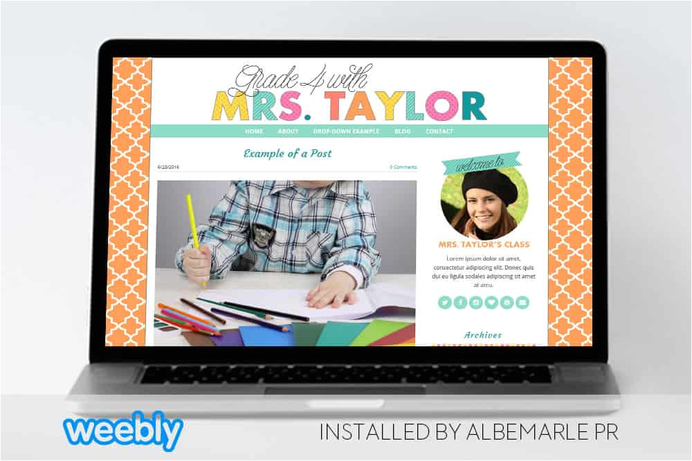 mrstaylor template for weebly