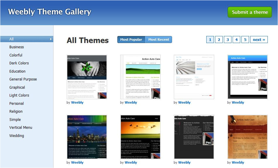 Weebly Site Templates Weebly Review