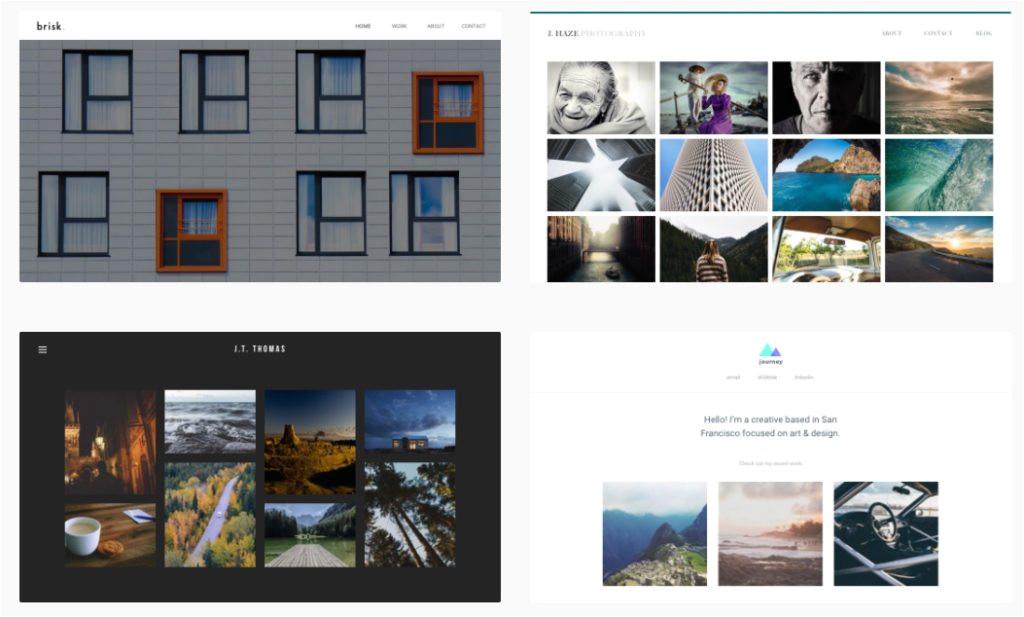 best website builders for photography websites
