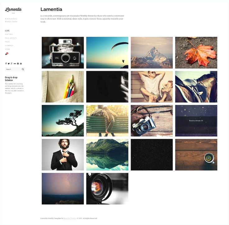 weebly templates for photographers