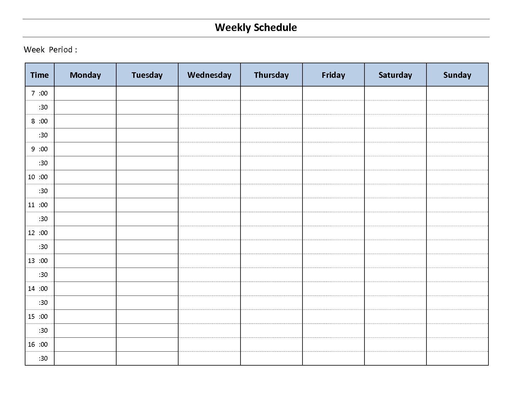 Week organizer Template Weekly Planner 2017 Template Schedule Planner Get form