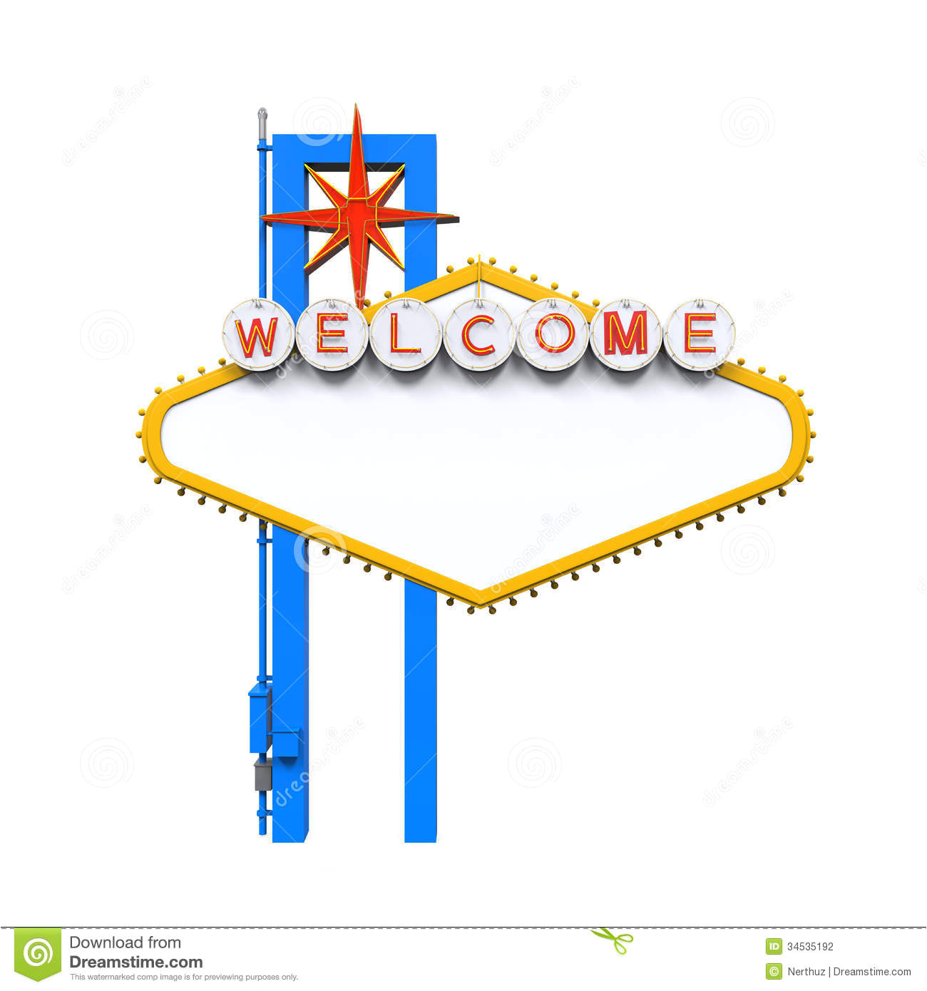 stock photography blank las vegas welcome sign isolated white background d render image34535192