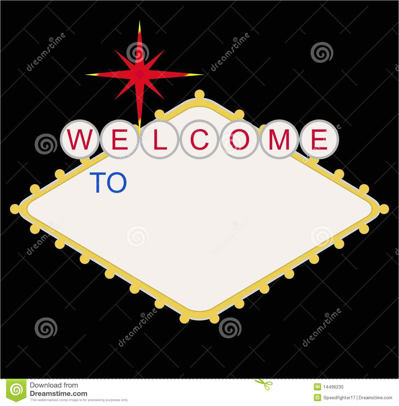 stock photo blank welcome to las vegas sign image14496230