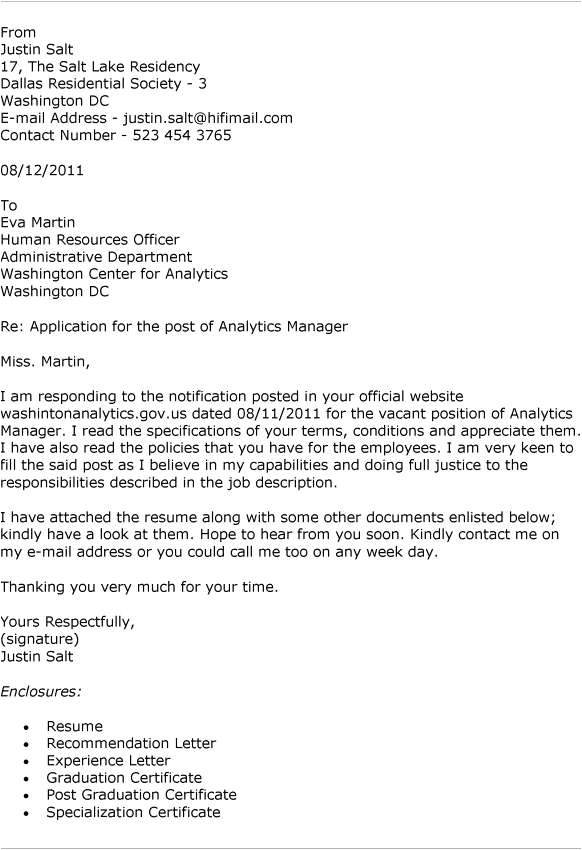8 well written application letter to company