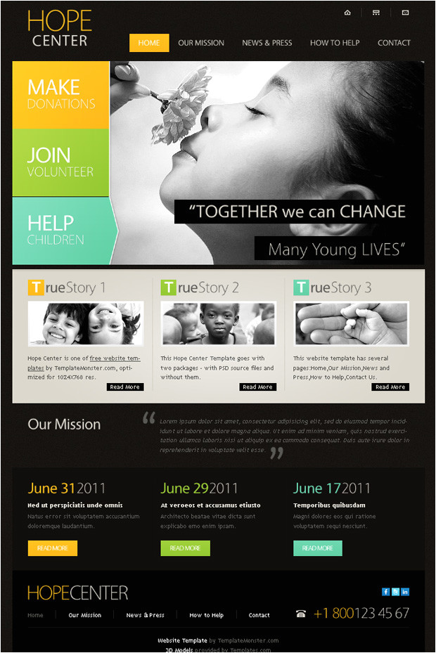 charity html website templates