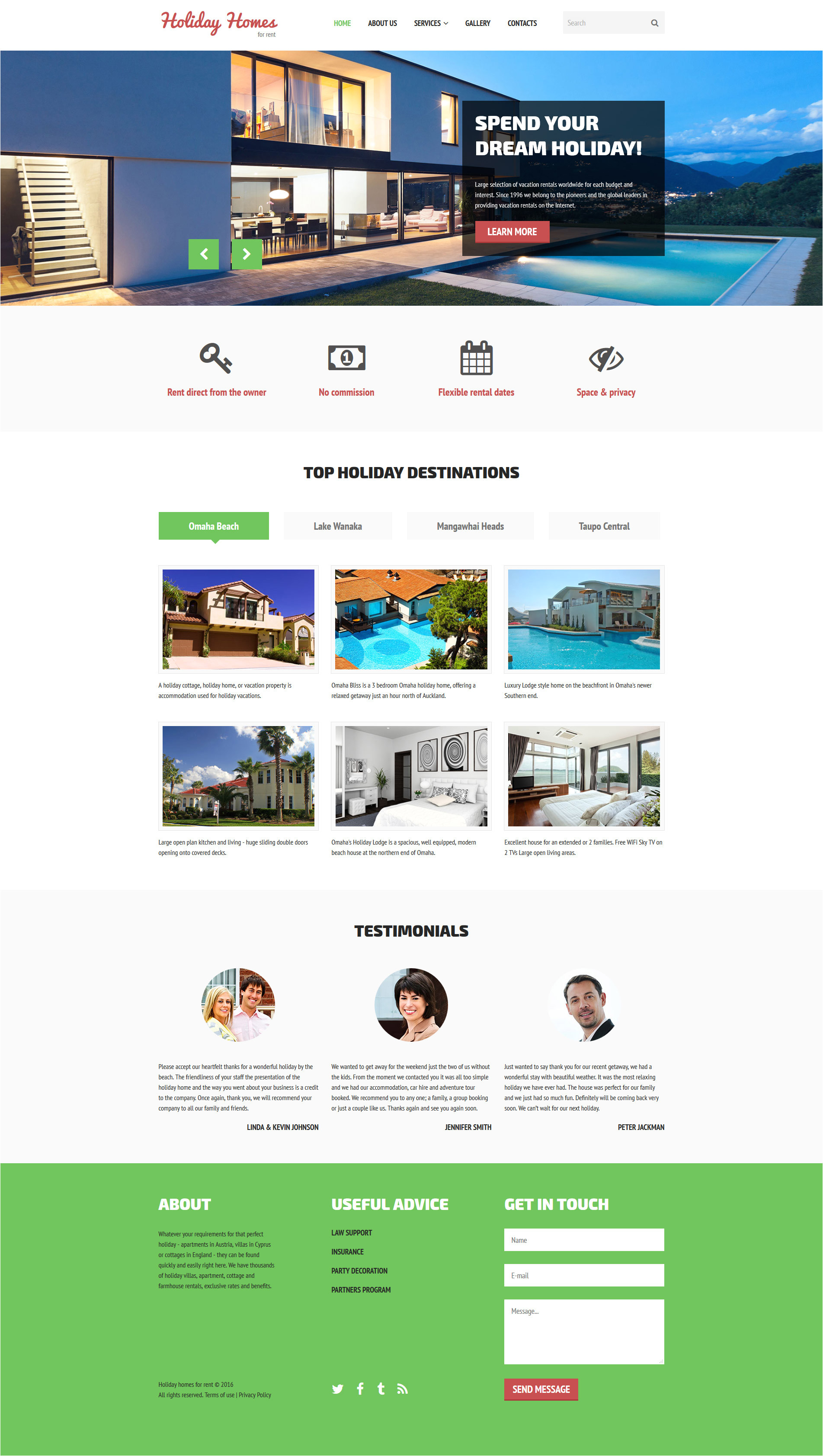 Wesite Templates Home Rent Website Template