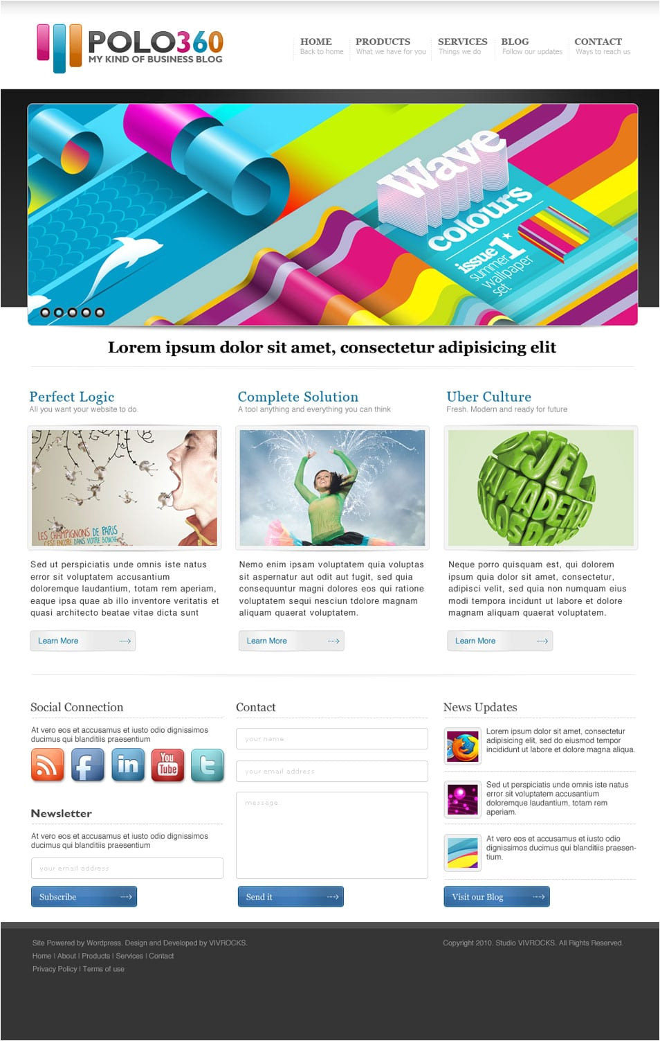 latest free web page templates psd