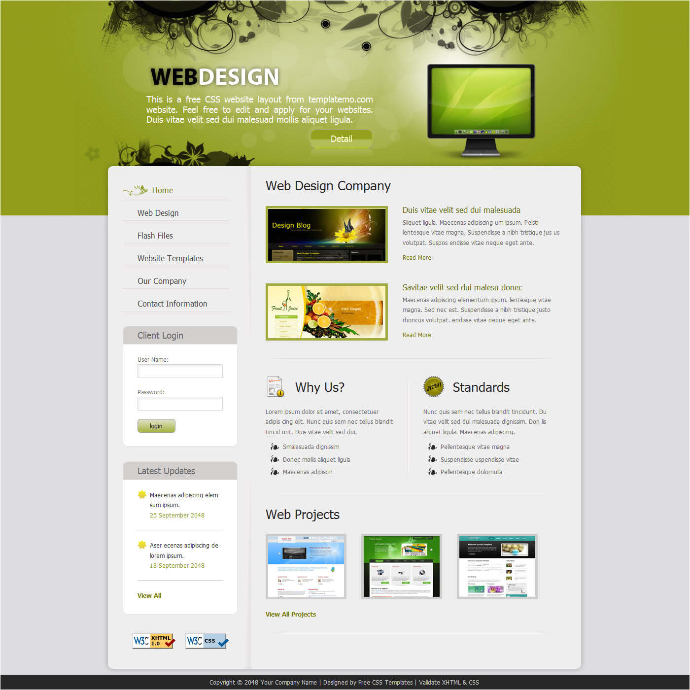 What are HTML Templates Free Website Template Cyberuse