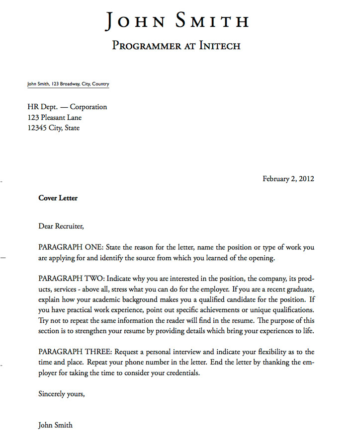 what does a cover letter look like 2203