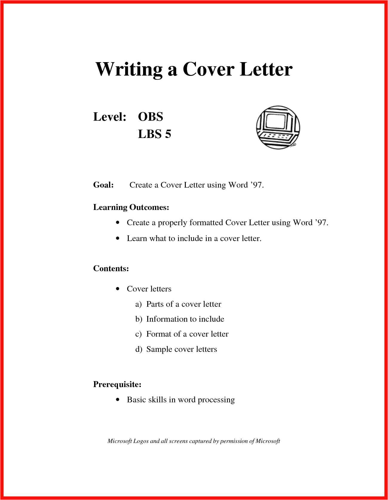 what is in a cover letter