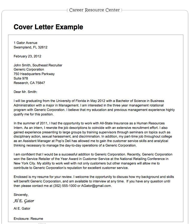business format cover letter