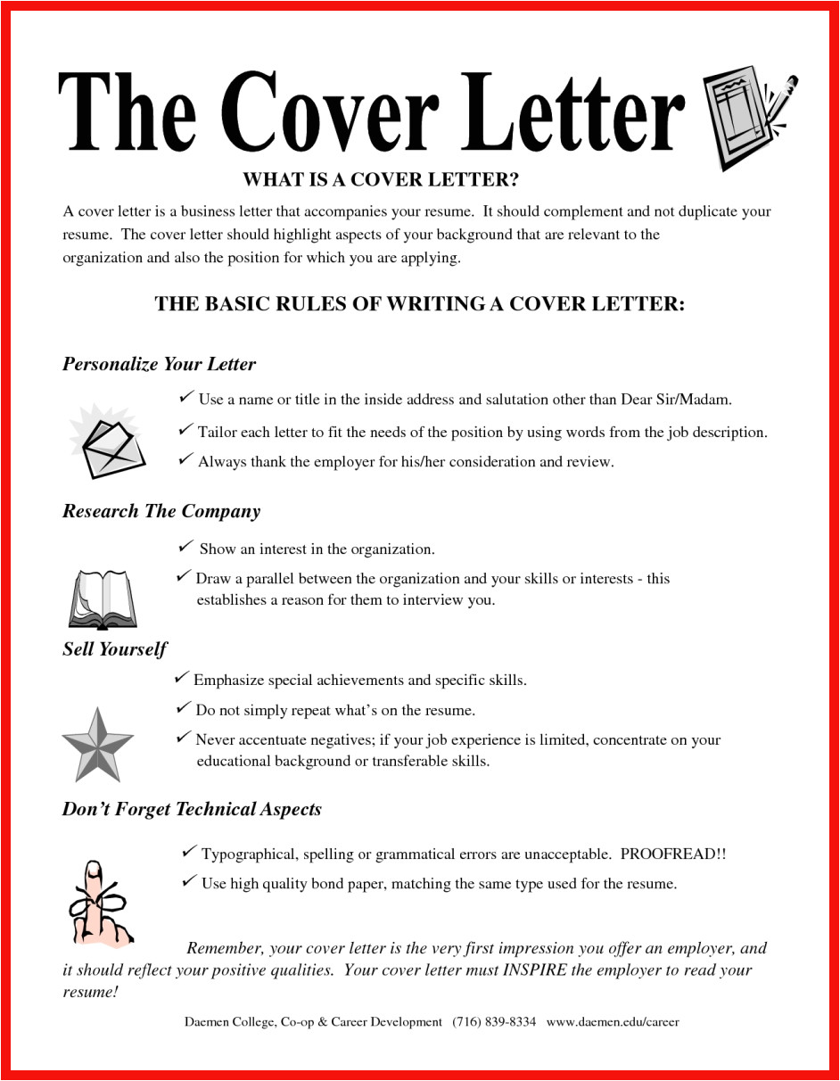 what goes on cover letter