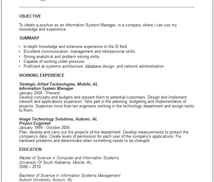 information systems cover letter