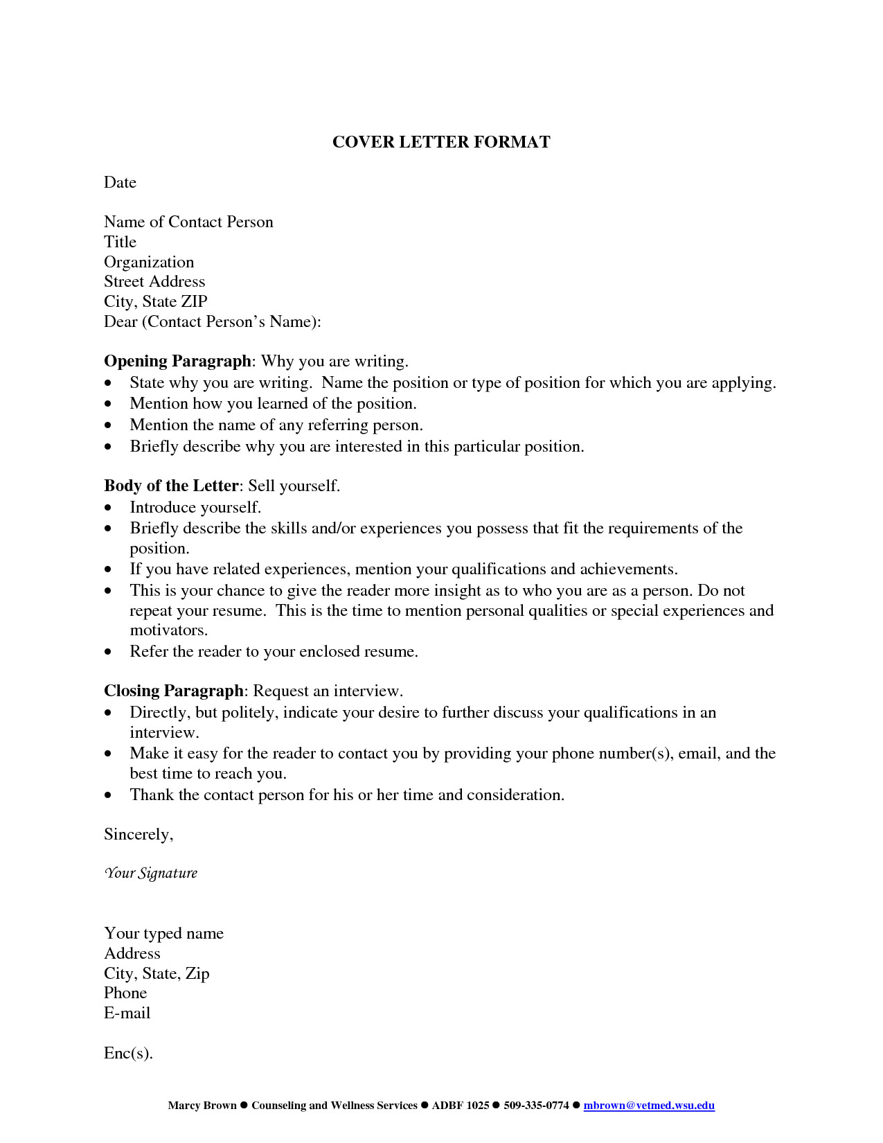 cover letter title examples