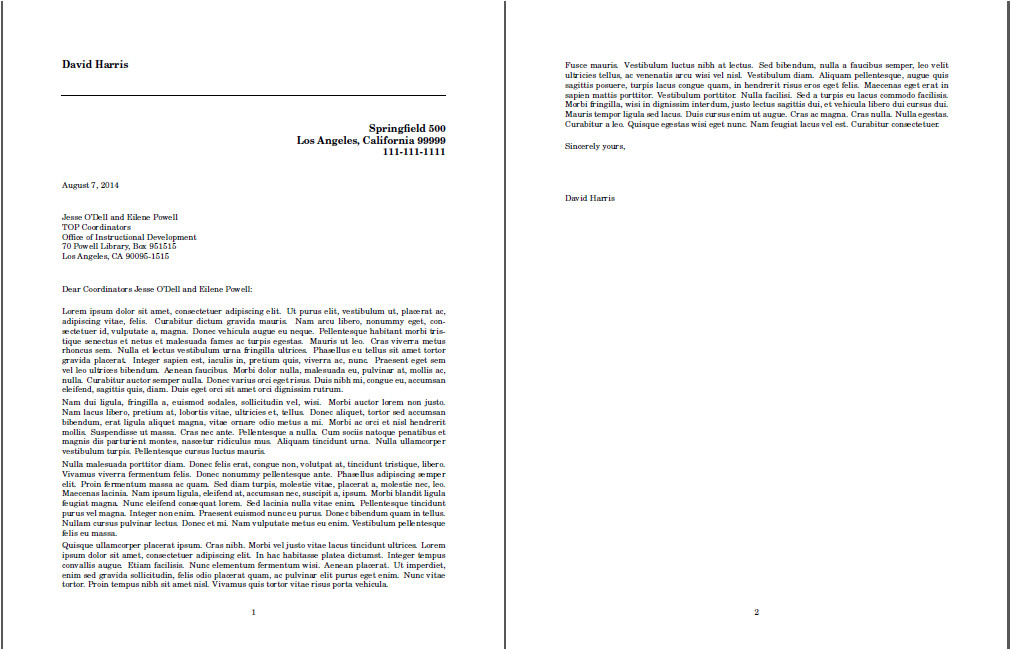 What is A Cover Letter Title Spacing Space and Position In Cover Letter Title Tex