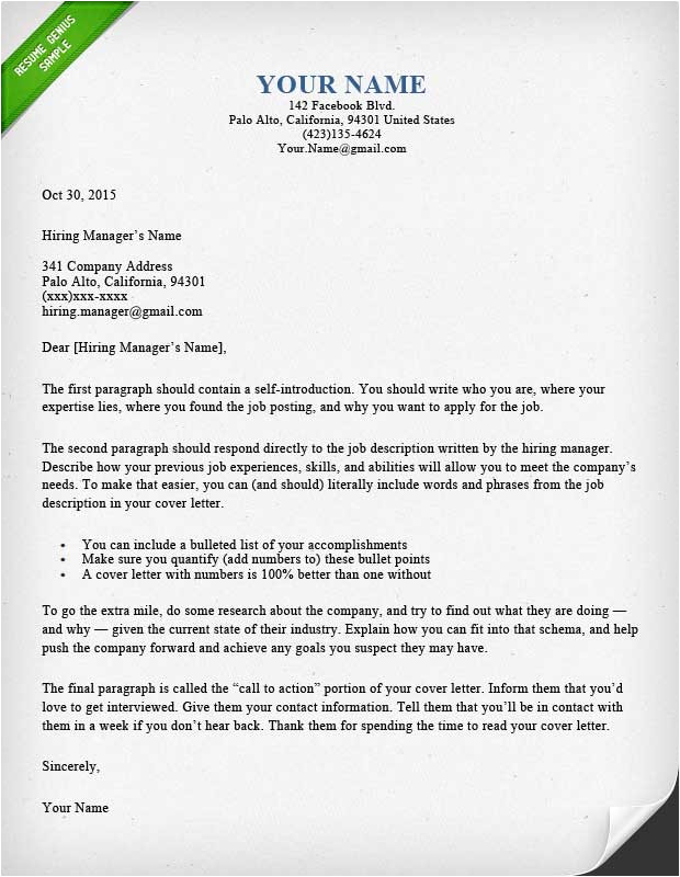 cover letter design library