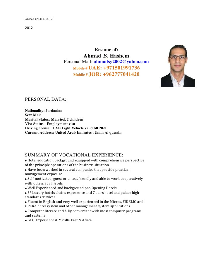 ahmad hashem cv covering letter 201212