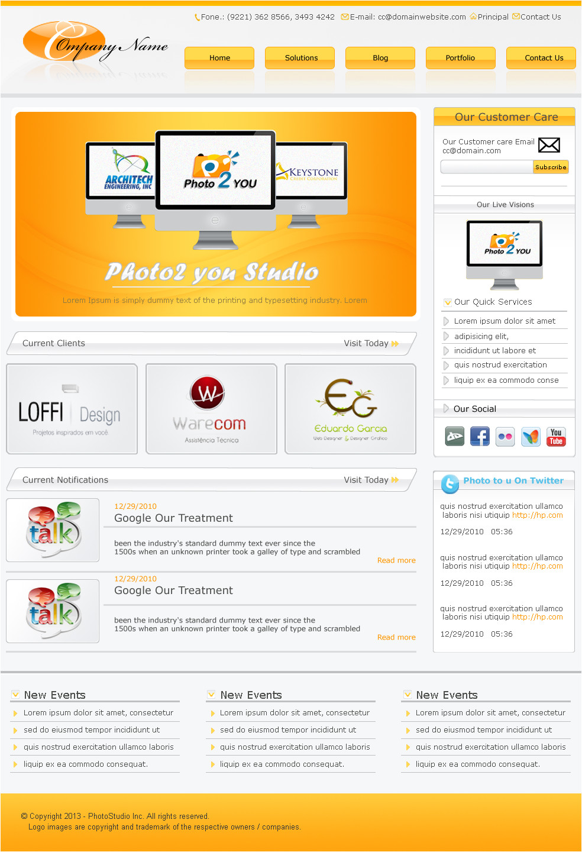 free psd website templates