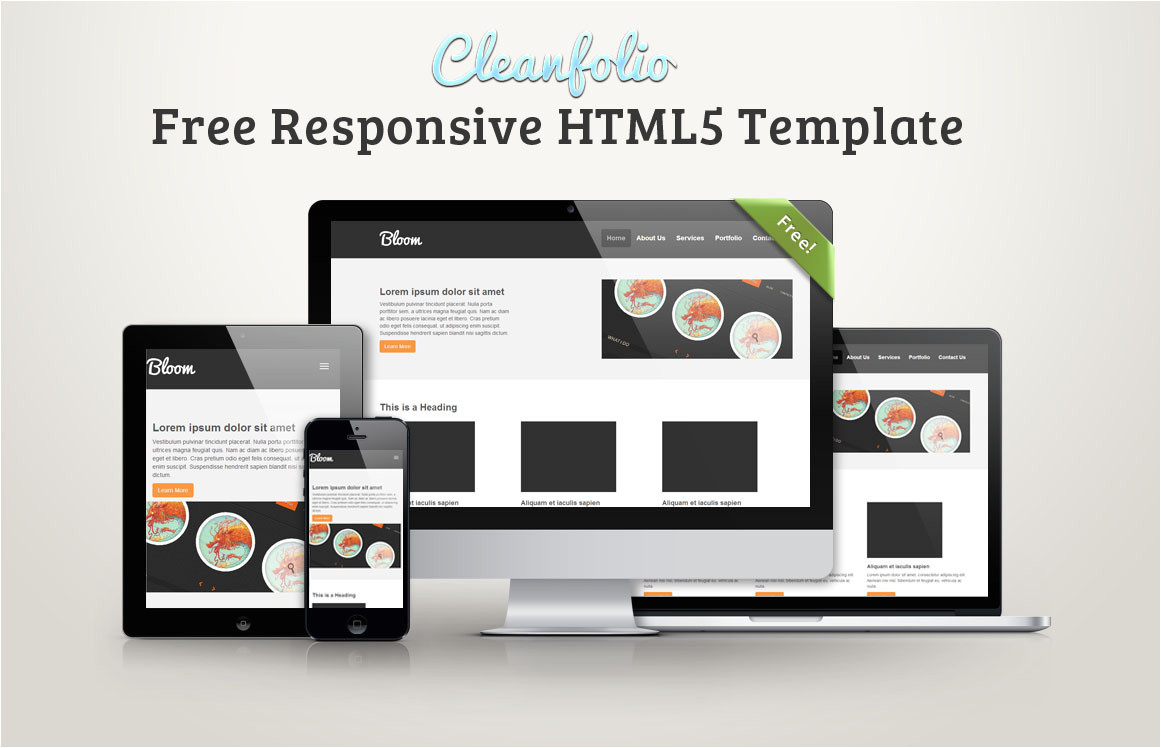 cleanfolio free responsive html5 template