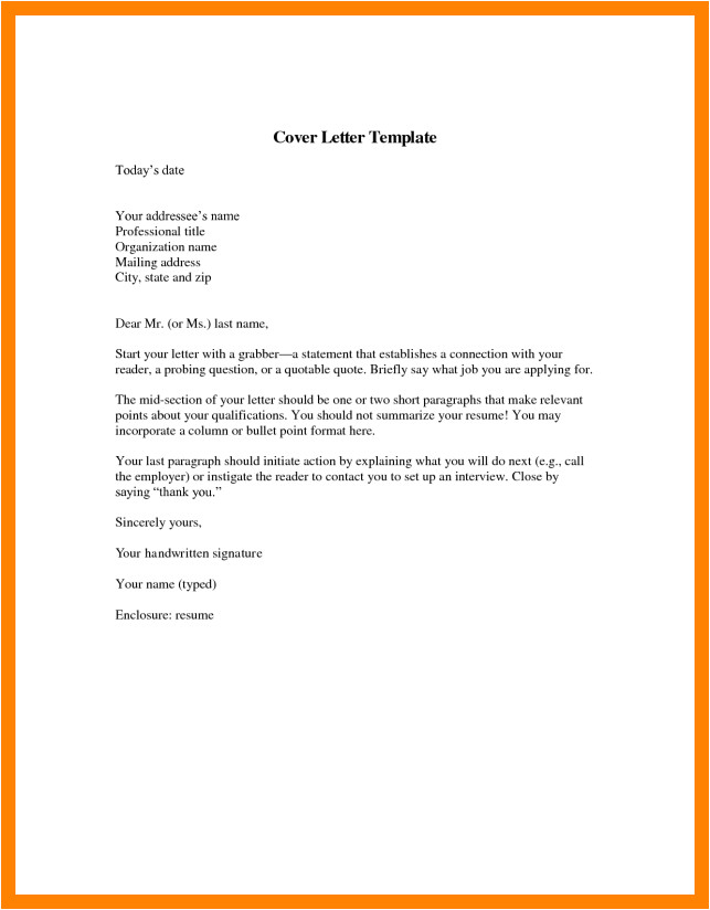 7 short application cover letter