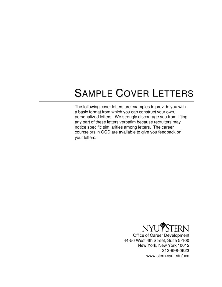 What is An Example Of A Cover Letter Cover Letter Samples
