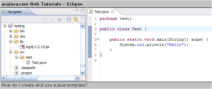 how to use java templates in eclipse full version free software download