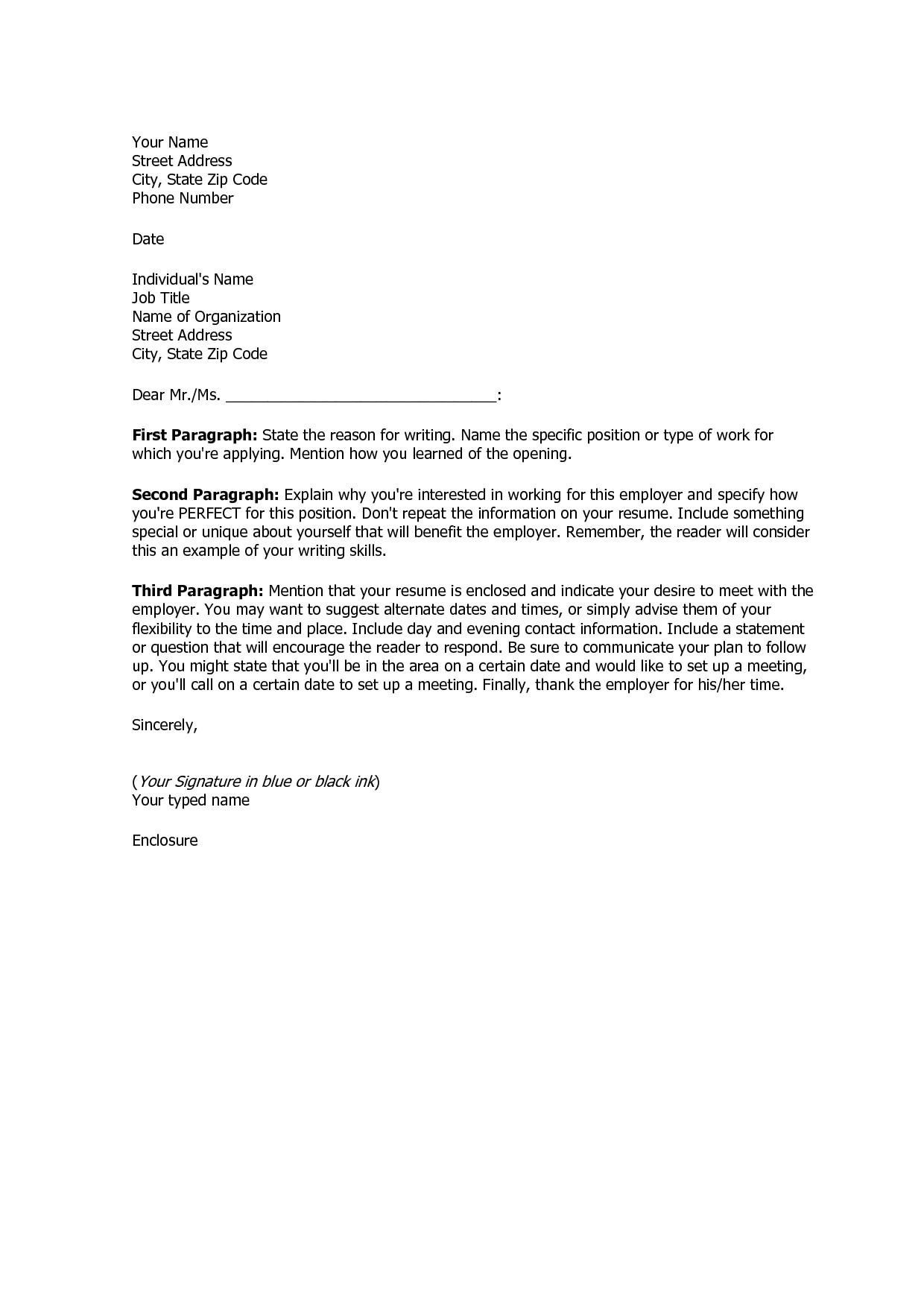 basic cover letter for a resume 3223