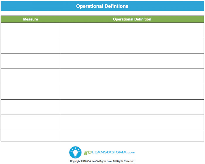 What is the Definition Of Template Operational Definition Template Example