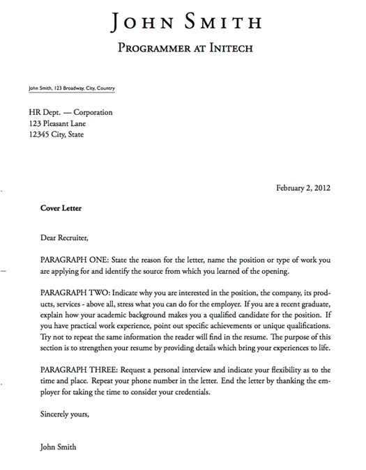 What is the Meaning Of A Cover Letter Cover Letter Definition Gplusnick