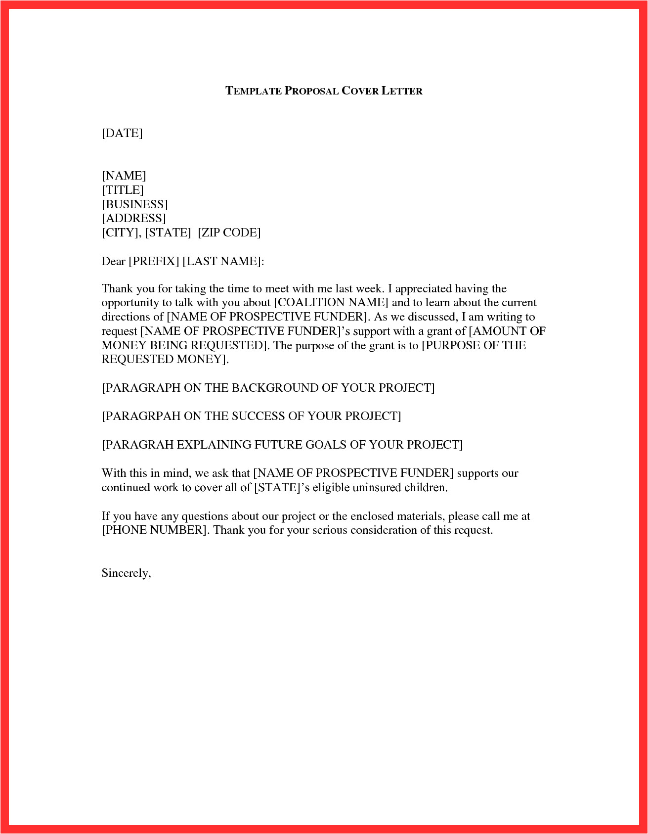 purpose cover letter