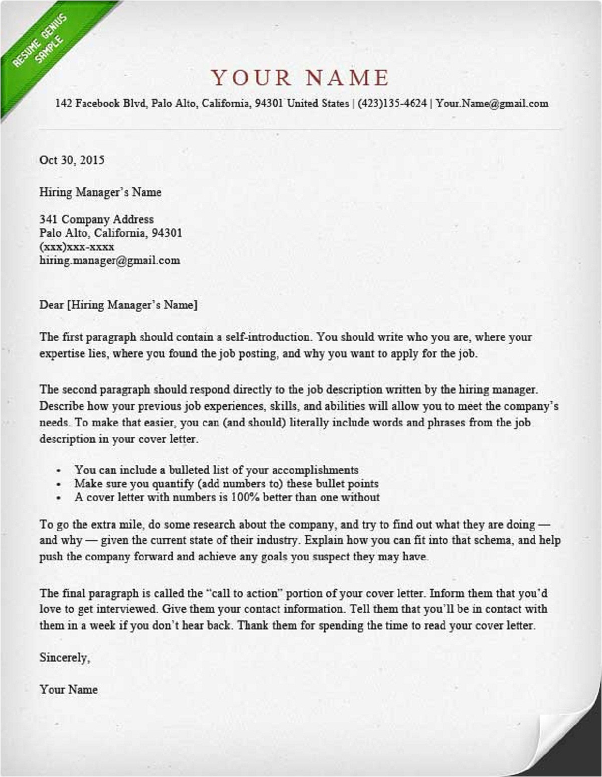 how to write cover letter guide with