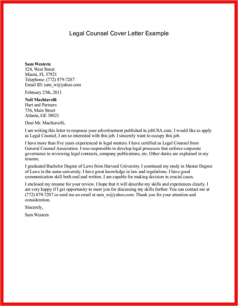 pre written cover letter