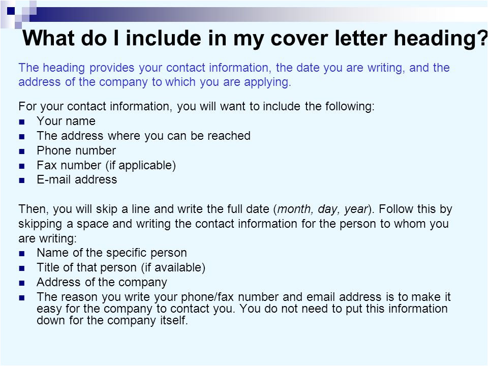 What Should I Write In My Cover Letter Cover Letters and Business Letters Ppt Video Online Download