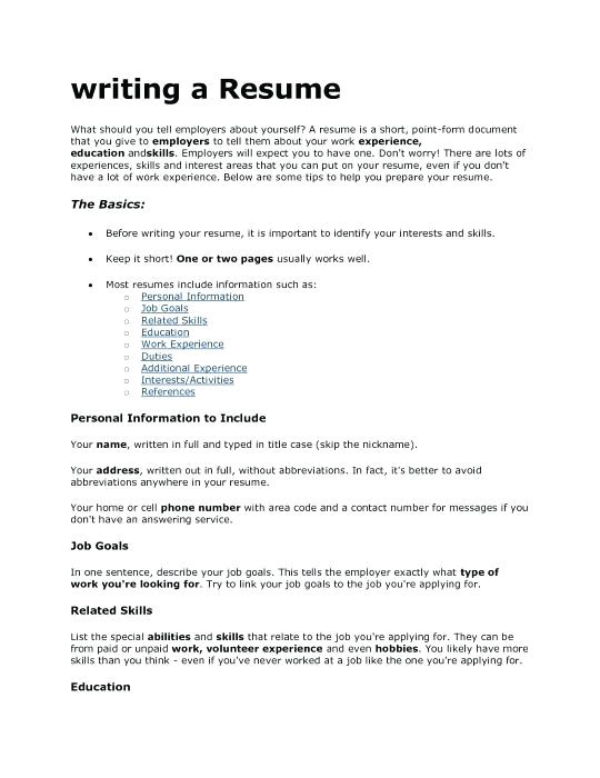 What Should I Write In My Cover Letter Should I Write My Hobbies In My Resume Krida Info
