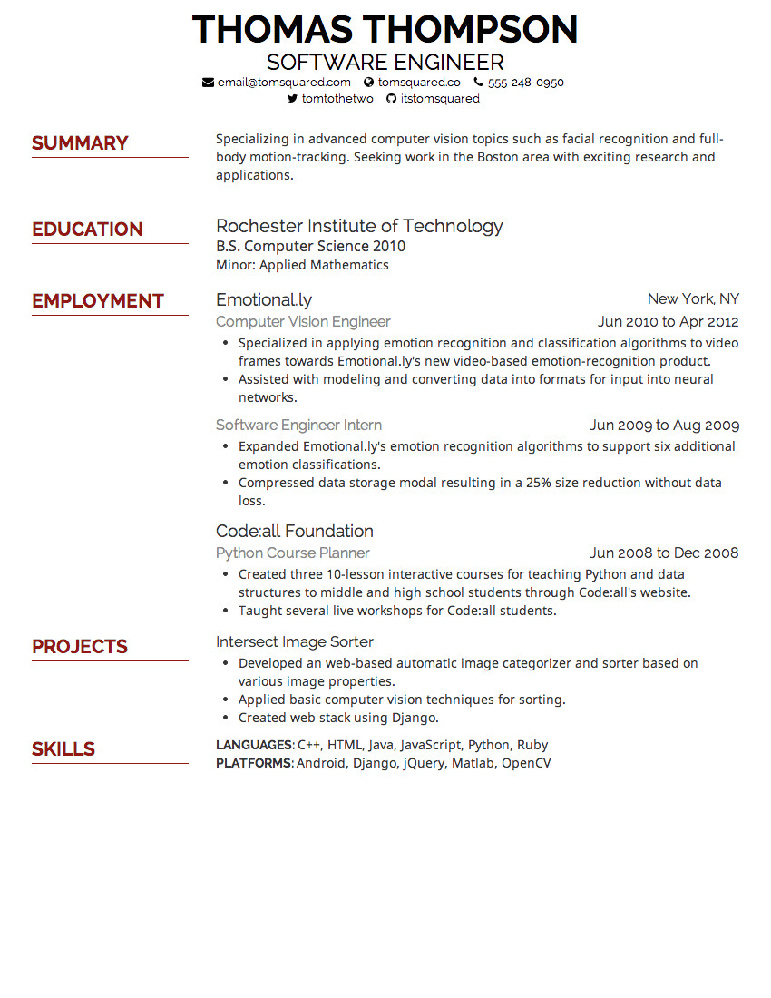 best resume fonts and size