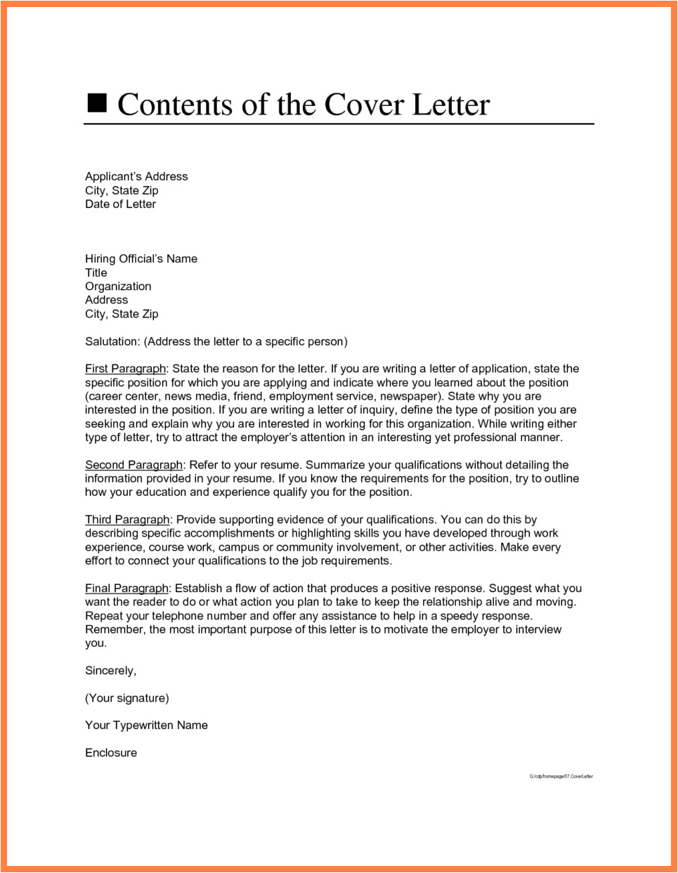 What to Name Your Cover Letter 5 Cover Letter Address Marital Settlements Information