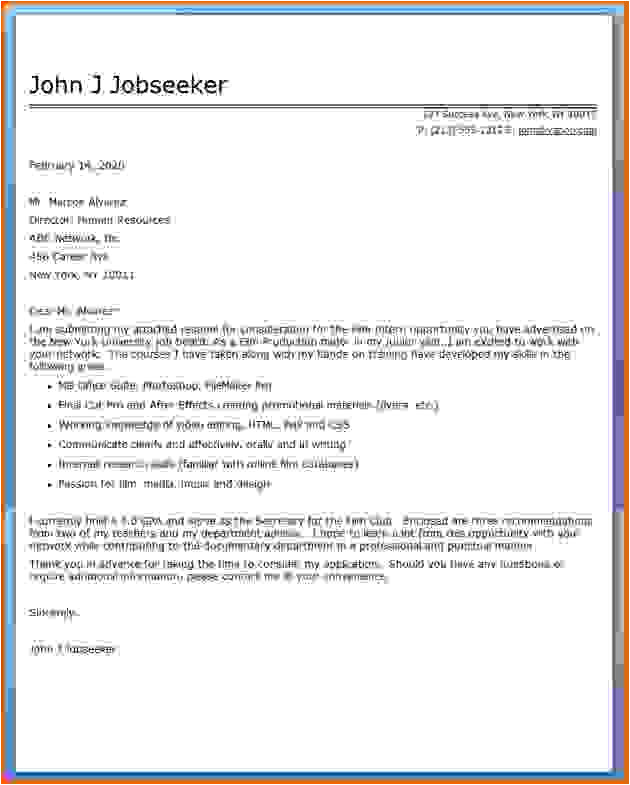 8 how to write cover letter internship