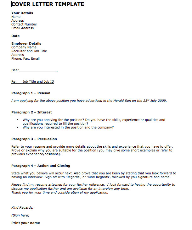 What to Put In Cover Letter for Job Cover Letter Templates Download Cover Letter Template