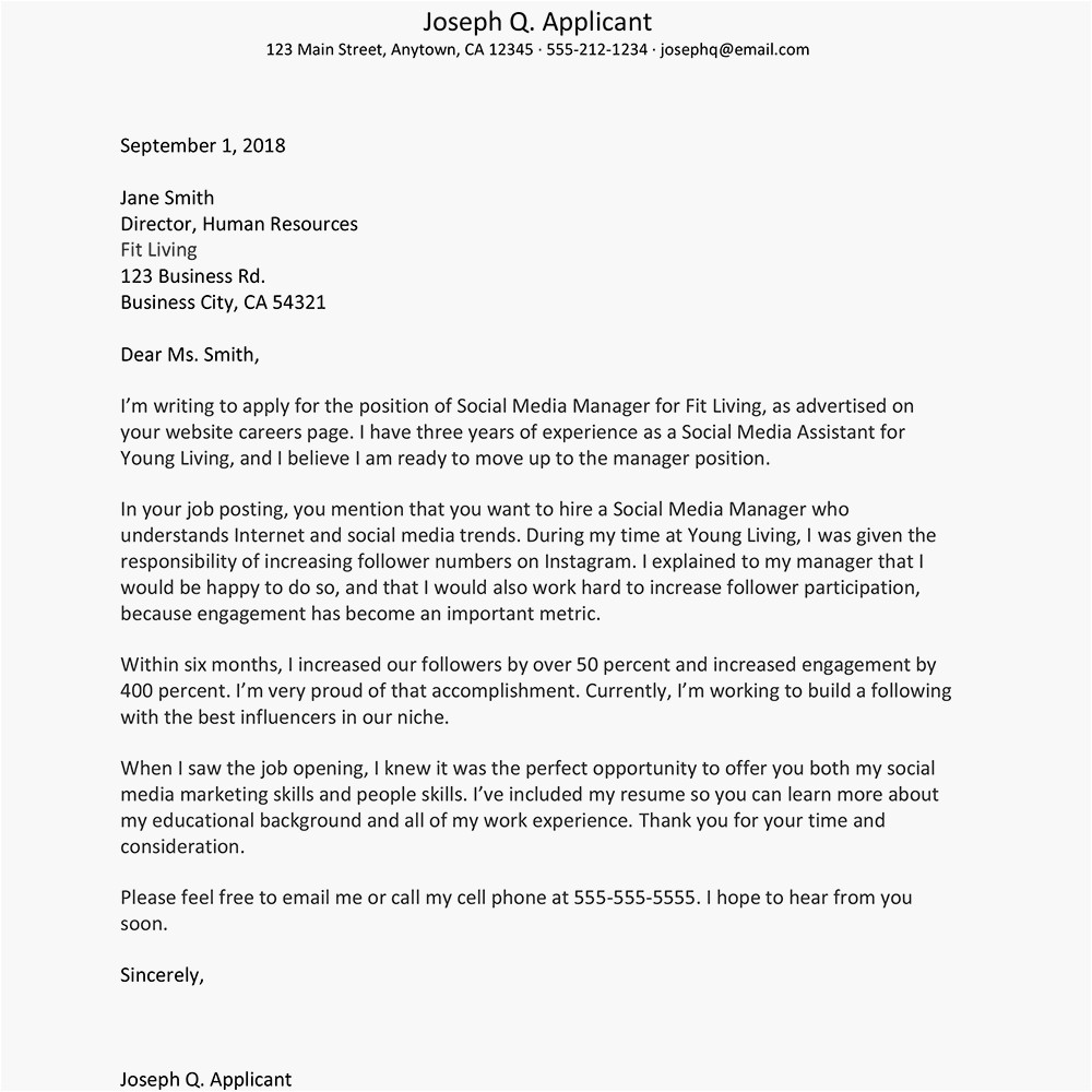 What to Say In A Cover Letter for A Job Free Cover Letter Examples and Writing Tips