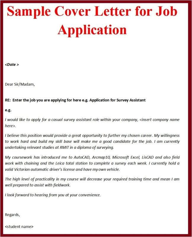 how to write a job application cover letter