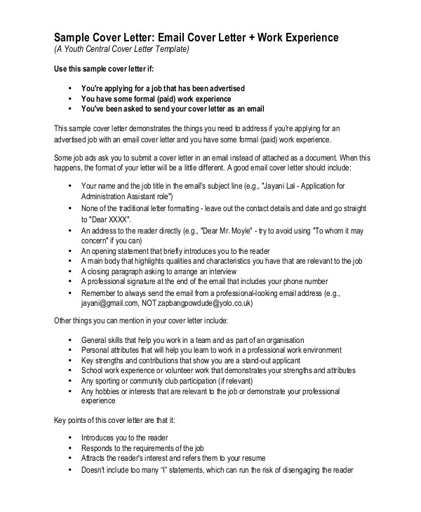 What to Write In A Covering Letter Email Resume Cover Letter Template Learnhowtoloseweight Net