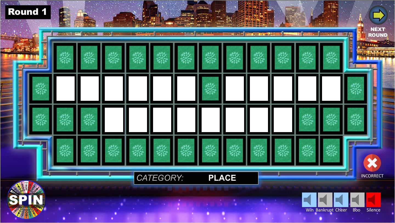 wheel fortune powerpoint game