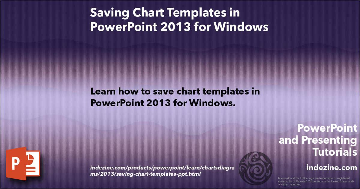 saving chart templates ppt